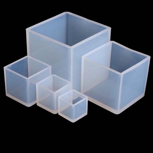 Cube, Box Shaped Silicone Mold for Resin Casting, Soap & Candle