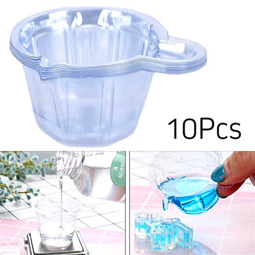 Disposable Plastic Mixing Cups for Epoxy Resin 10Pcs