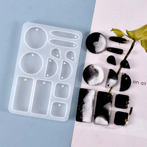 Silicone Earring Resin Molds (12 Cavity)