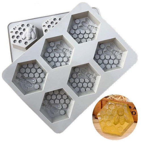 Honeycomb Silicone Soap Mold 6 Cavity