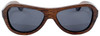 Rockaway Butterfly Polarized Brown Bamboo Wood Sunglasses Straight