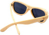 Rockaway Butterfly Polarized Natural Bamboo Wooden Sunglasses Back