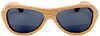 Rockaway Butterfly Polarized Duwood Frame Sunglasses Straight