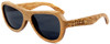 Rockaway Butterfly Polarized Duwood Frame Sunglasses Side