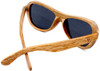 Rockaway Butterfly Polarized Duwood Frame Sunglasses Back