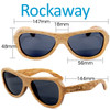 Rockaway Butterfly Duwood Wood Sunglasses Dimensions Size
