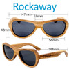 Rockaway Butterfly Zebrawood Wood Sunglasses Dimensions Size