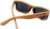 Whitehaven Rectangular Polarized Duwood Sunglasses Back