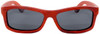 Whitehaven Rectangular Polarized Red Rosewood Frame Sunglasses Straight