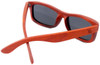 Whitehaven Rectangular Polarized Red Rosewood Frame Sunglasses Back