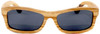 Whitehaven Rectangular Polarized Zebrawood Frame Sunglasses Straight