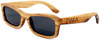 Whitehaven Rectangular Polarized Zebrawood Frame Sunglasses Side