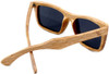 Cloudbreak Polarized Square Duwood Frame Sunglasses Back