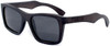 Cloudbreak Polarized Square Ebony Wooden Frame Sunglasses Side