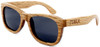 Coronado Wayfarer Style Polarized Duwood Sunglasses Side