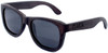 Coronado Wayfarer Style Polarized Ebony Wooden Sunglasses Side