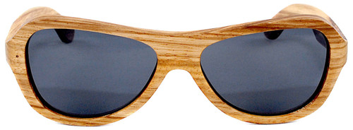 Rockaway Butterfly Polarized Zebrawood Sunglasses Straight