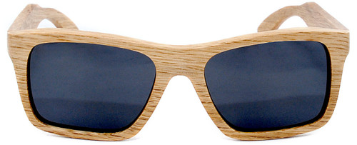 Cloudbreak Polarized Square Duwood Frame Sunglasses Straight