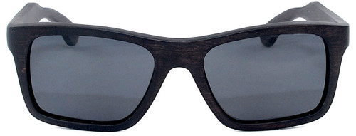 Cloudbreak Polarized Square Ebony Wooden Frame Sunglasses Straight
