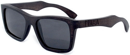 a1a94896ac ... Cloudbreak Polarized Square Ebony Wooden Frame Sunglasses Side ...