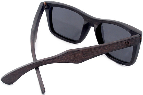 d344ab028f ... Cloudbreak Polarized Square Ebony Wooden Frame Sunglasses Back;  Magnetic Bamboo ...