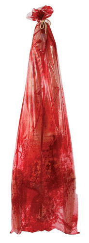5 FOOT ALL LATEX  BLOODY  BODY BAG PROP  SUPER PRICE