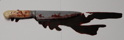 BLOOD POOL WITH KNIFE
