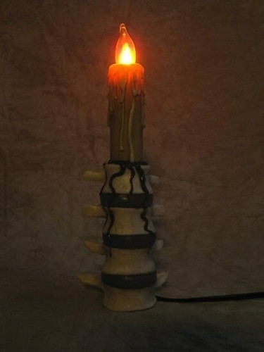 Lumbar Spine Candle With Blood