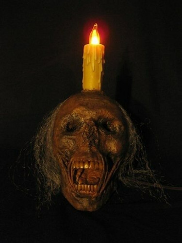 Lighted Corpse Head Life-Size