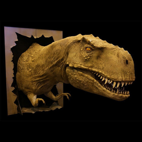 T REX HEAD DISPLAY HEAD  STATIC VERSION