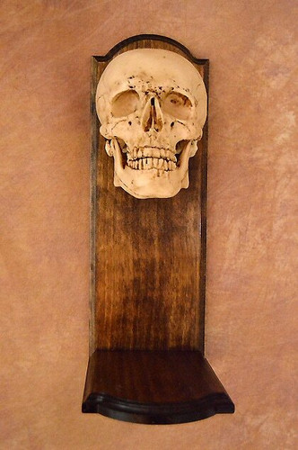 Classic Skull Wall Sconce, No Candle
