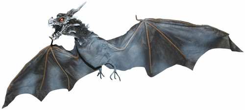 "ANIMATED 52"" WIDE FLYING DRAGON    CLEARANCE"