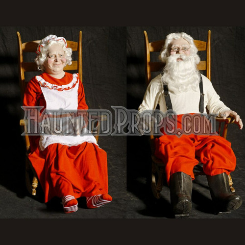ALL Electric Mr. & Mrs. Rocking Santa Claus &  Static Mrs Claus