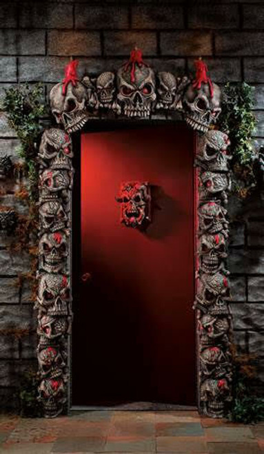 Crypt Tower Skull Door Frame Set   BLOW OUT SALE