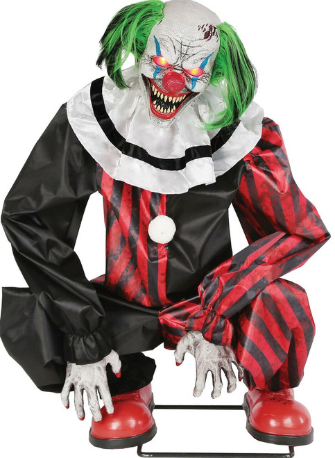 Crouching Clown Red Animated