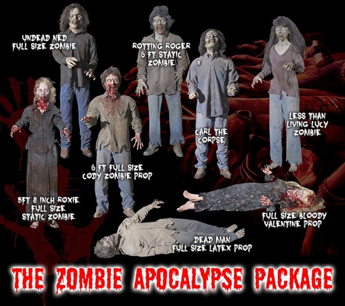 The Zombie Apocalypse  8 Piece Zombie Deal