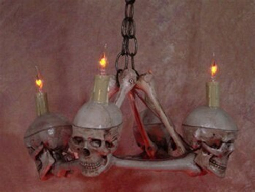 Skull / Femur Bone Chandelier With Four Small Skulls  Skul200m