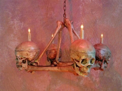 Skull / Femur Bone Chandelier  2 Week Delivery