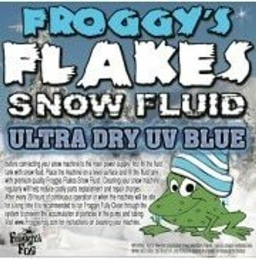 Blue Uv Blacklight Reactive Snow Juice Machine Fluid - Froggys Flakes - Evaporative Formula