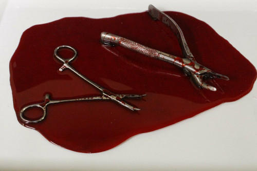 Resin Blood Pool With Medical Instruments