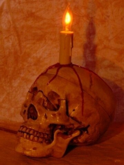 Bleeding Skull With Candle