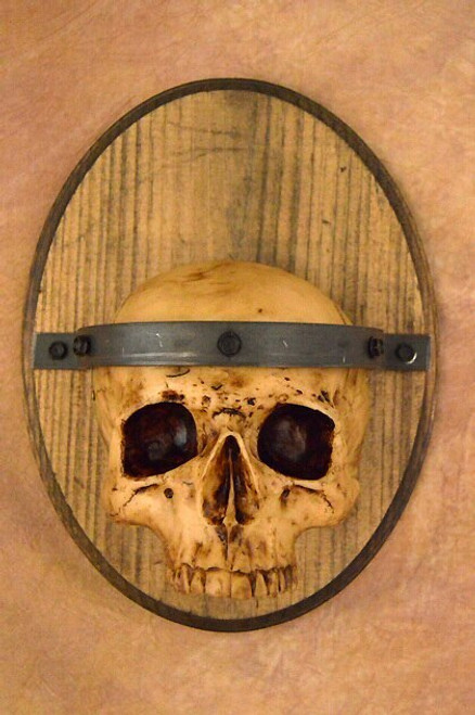 Skull Plaque Wood Sconce, No Candle