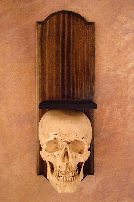 Classic Skull Wall Sconce Style Ii, No Candle