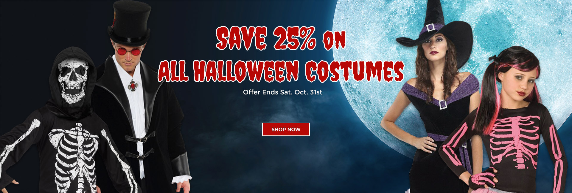 25% Off On All Halloween Costumes