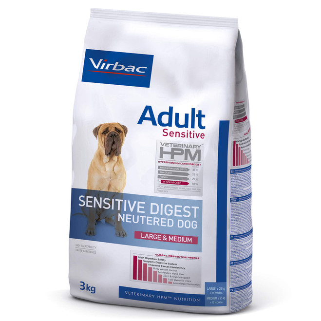 ADULT SENSITIVE DIGEST NEUTERED DOG Large & Medium - Foder til voksne hunde