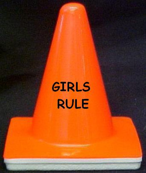 "Novelty 4"" Blaze Cone #002 Girls Rule"