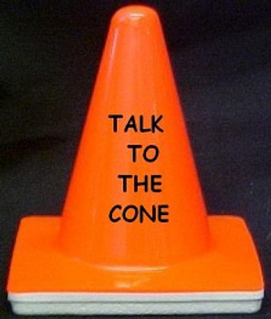 "Novelty 4"" Blaze Cone #009 Talk to the Cone"