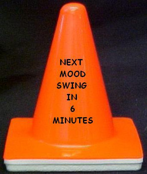 "Novelty 4"" Blaze Cone #026 Next Mood Swing in 6 Minutes"