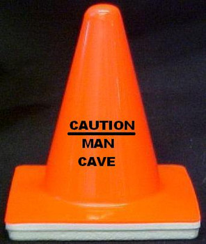 "Novelty 4"" Blaze Cone #699 Caution Man Cave"
