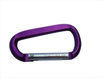 Carabiner - Purple    Email us what you want on the Front and Back sides